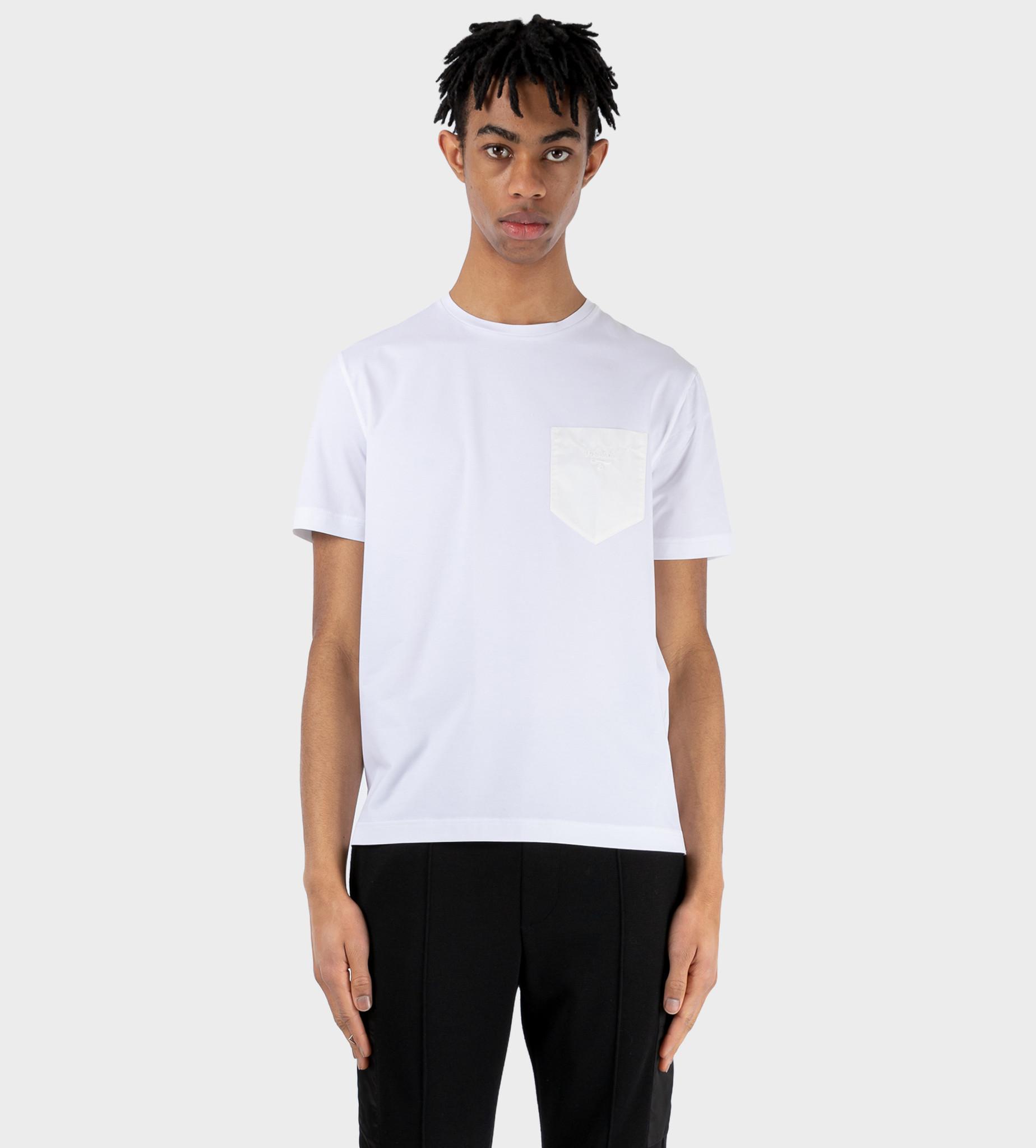 PRADA Jersey And Nylon T-shirt White