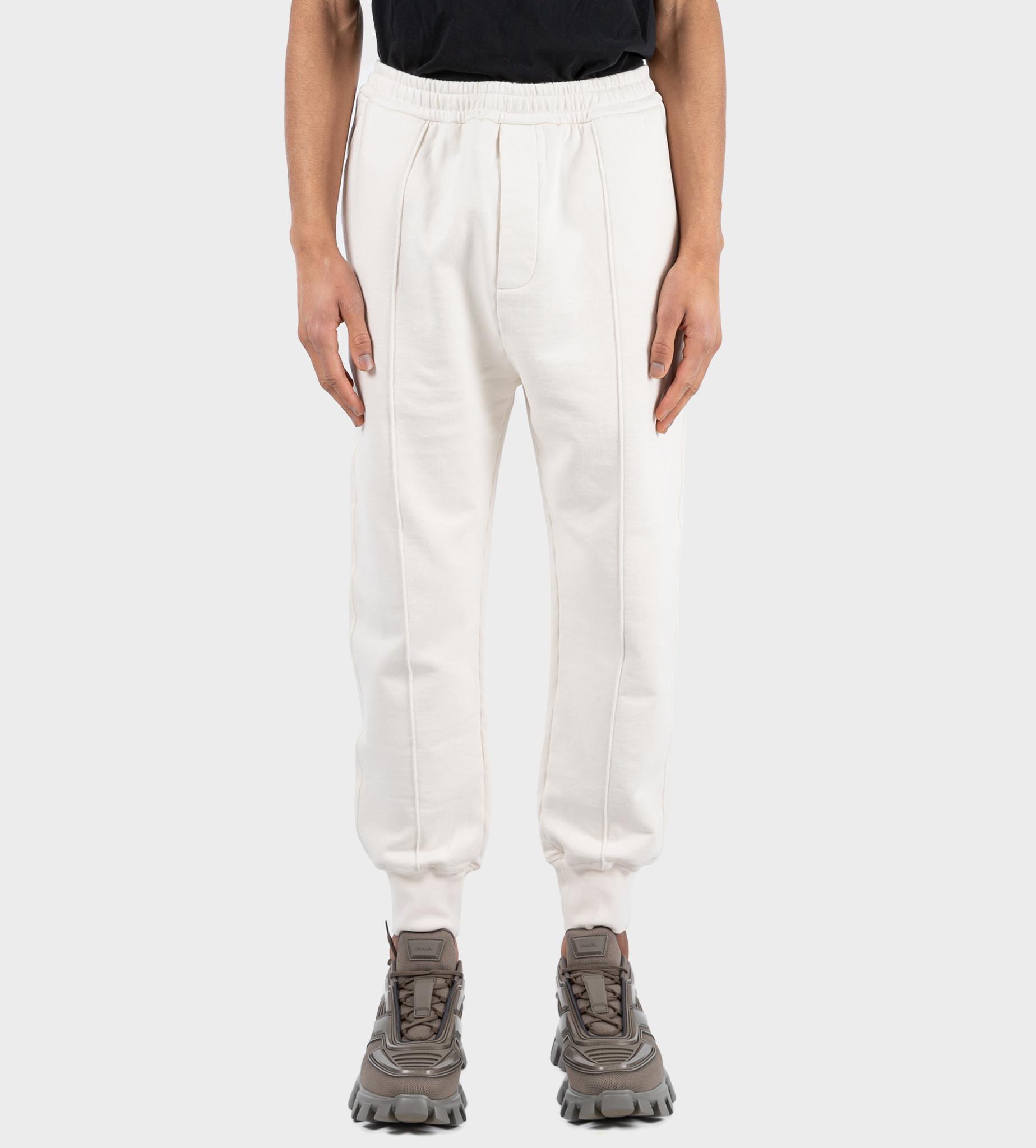 PRADA Garment-Dyed Cotton Pants Tan