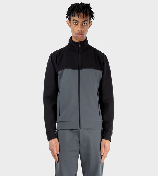 Technical Fleece Cardigan Grey