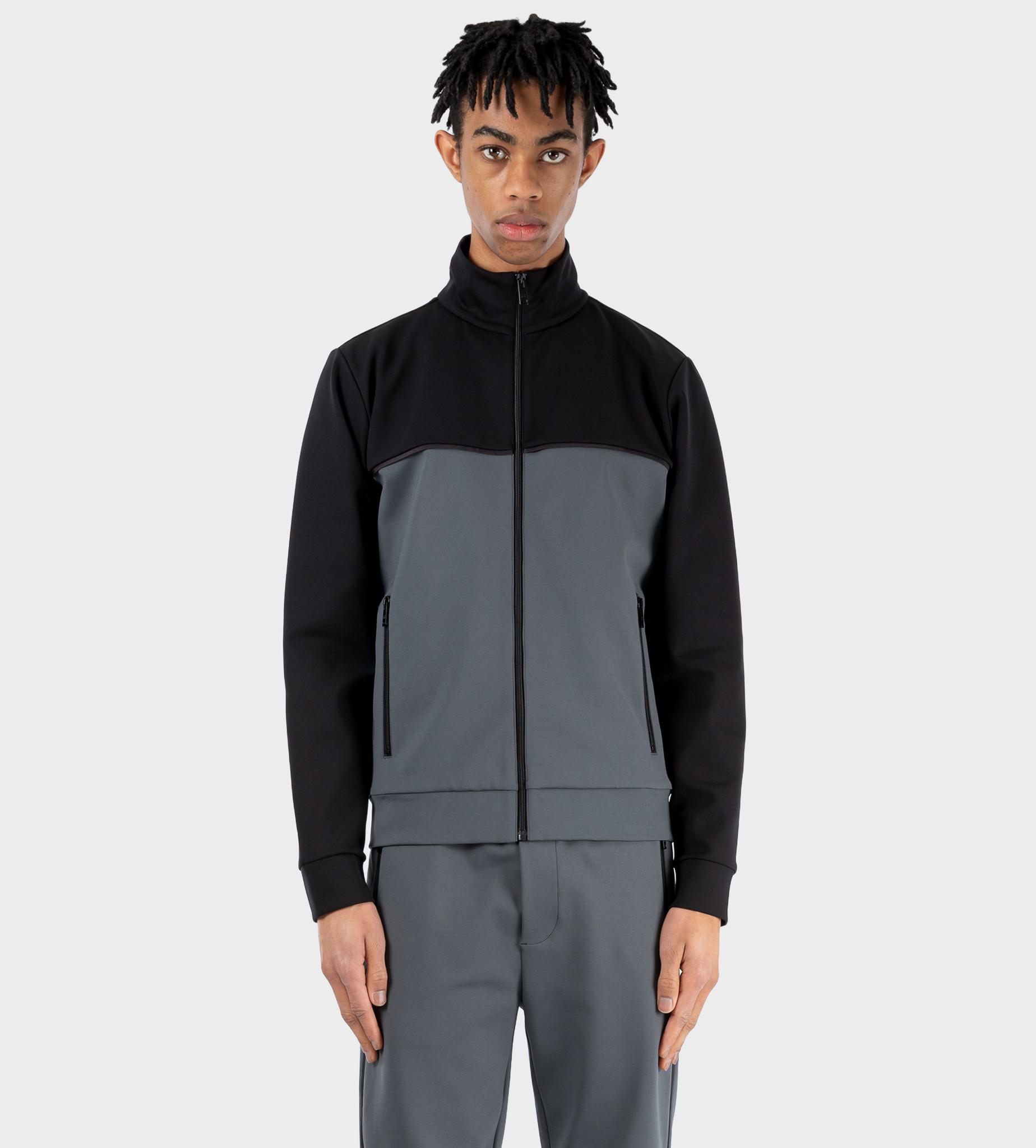 PRADA Technical Fleece Cardigan Grey