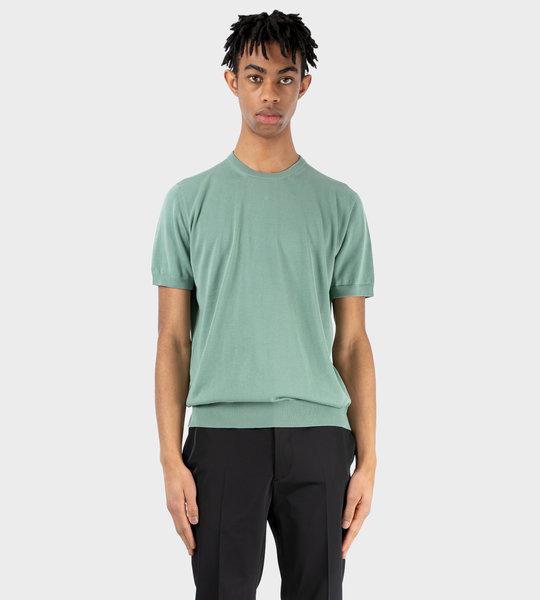Ribbed T-shirt Green