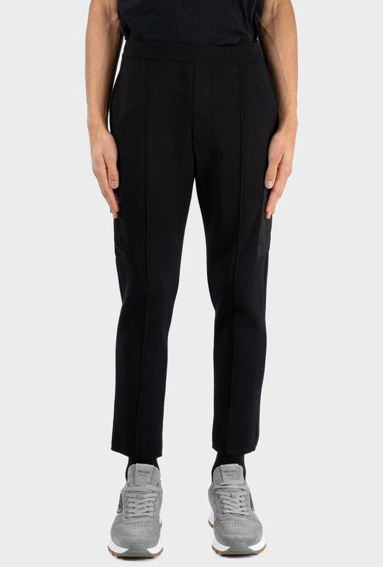 Re-Nylon Gabardine And Wool Pants Black