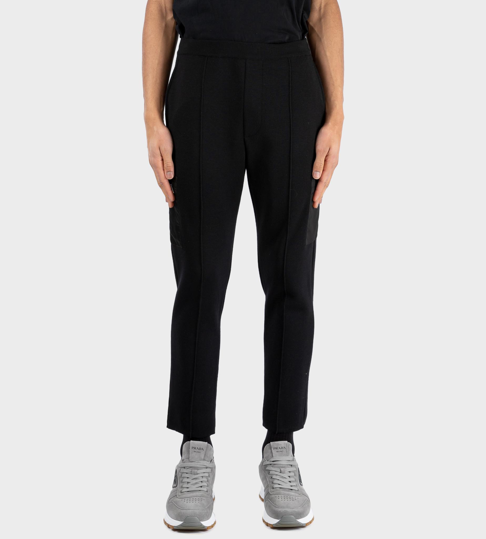 PRADA Re-Nylon Gabardine And Wool Pants Black