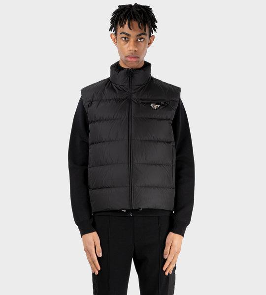 Re-Nylon Puffer Vest Black
