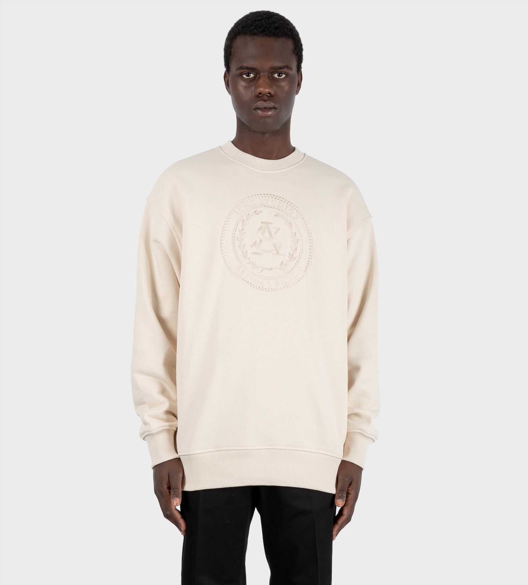 ACNE STUDIOS Oversized Sweatshirt Coconut White