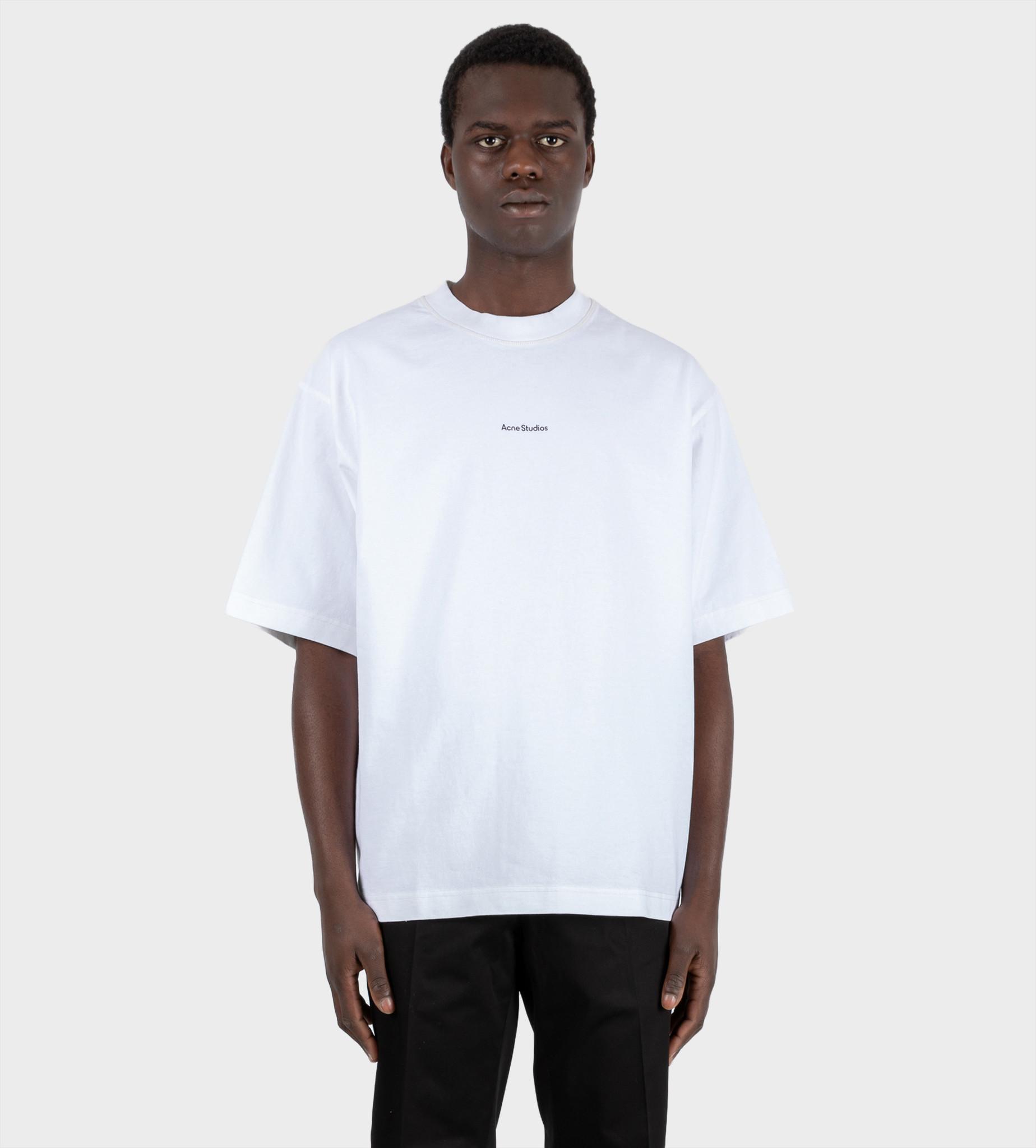ACNE STUDIOS Logo Printed T-shirt  White