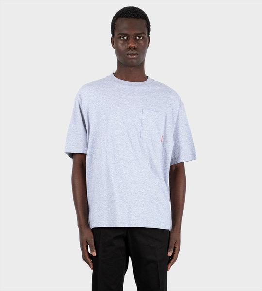 Pocket T-shirt Pale Grey Melange