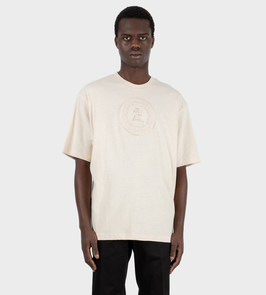 Embroidered T-shirt Coconut White