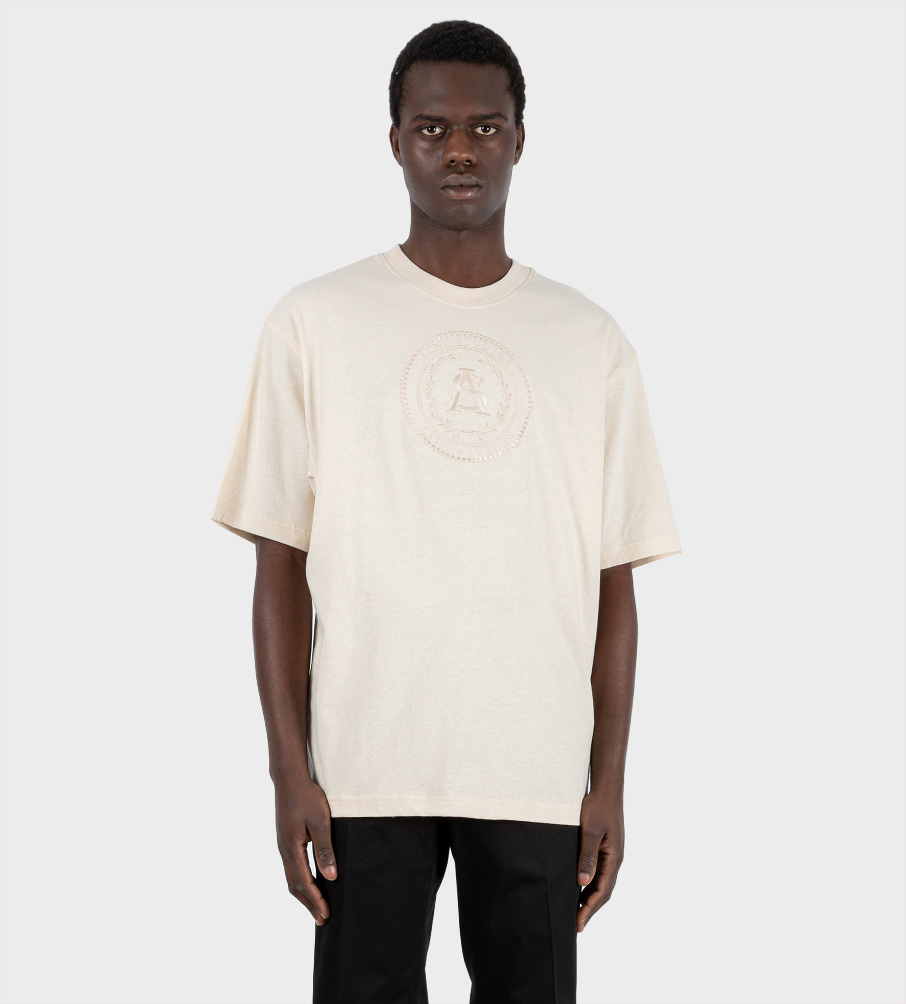 ACNE STUDIOS Embroidered T-shirt Coconut White