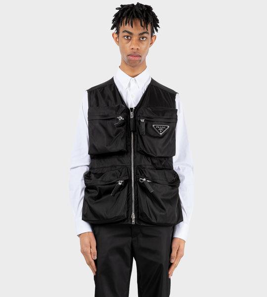Re-Nylon Utility Vest Black