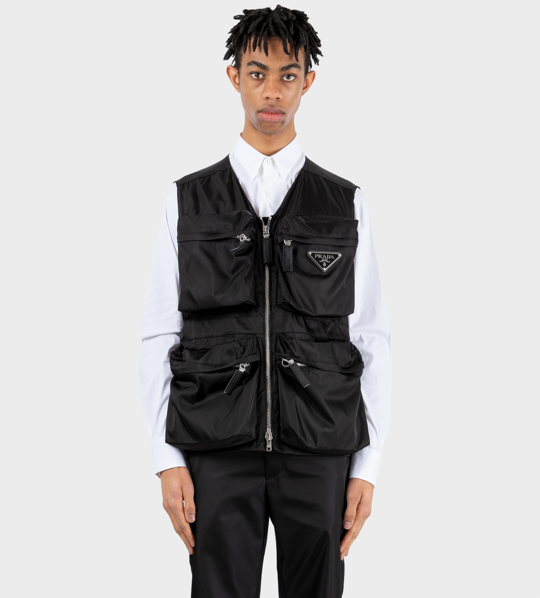 PRADA Re-Nylon Utility Vest Black