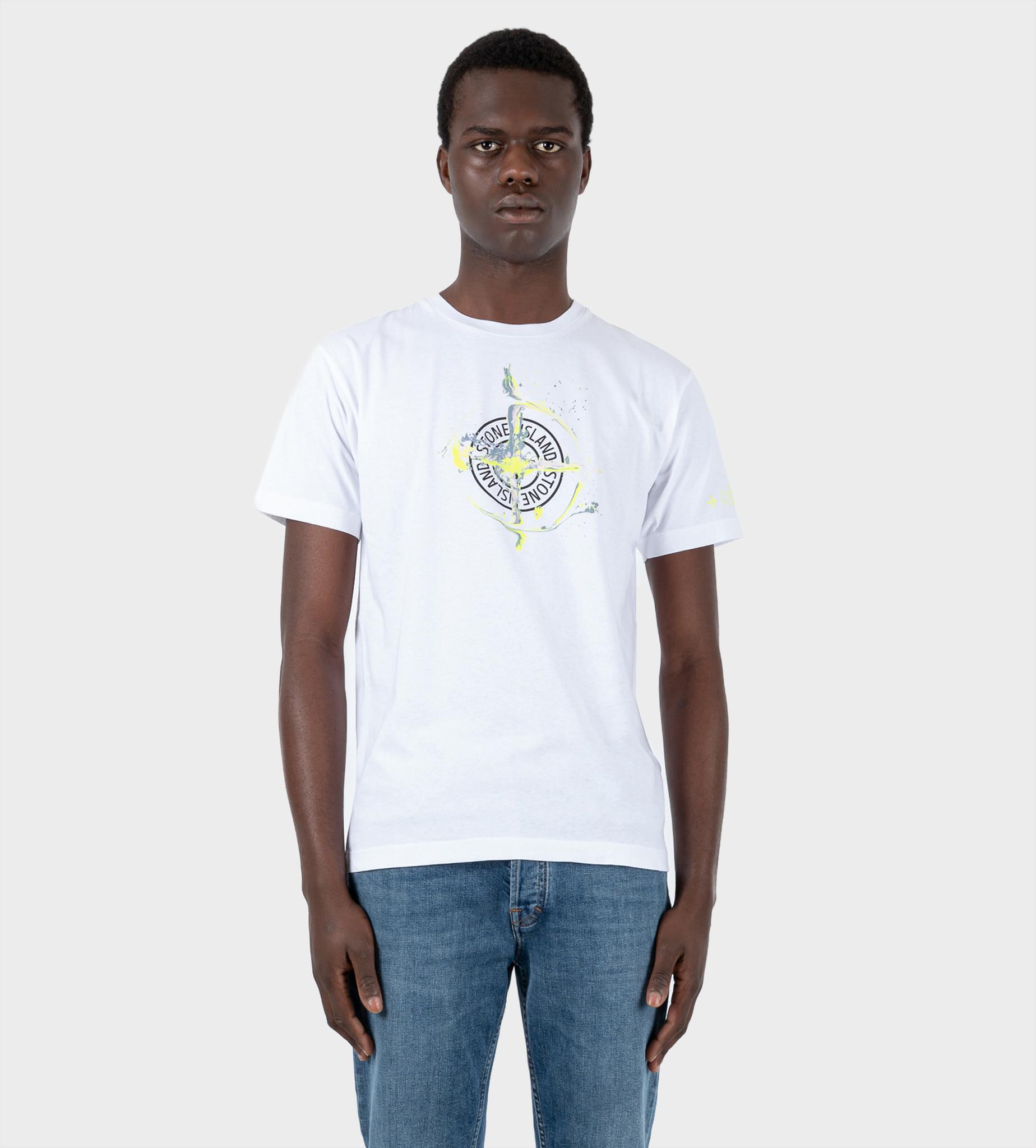 STONE ISLAND 2NS83 Paint T-shirt White