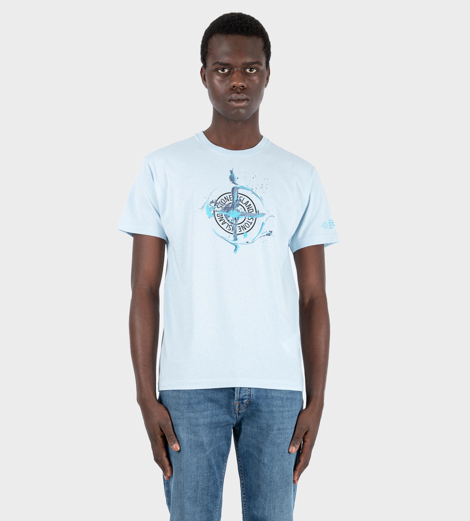 STONE ISLAND 2NS83 Paint T-shirt Blue