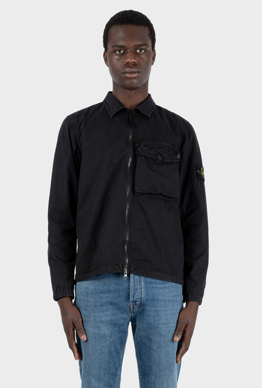 Brushed Cotton Canvas Overshirt
