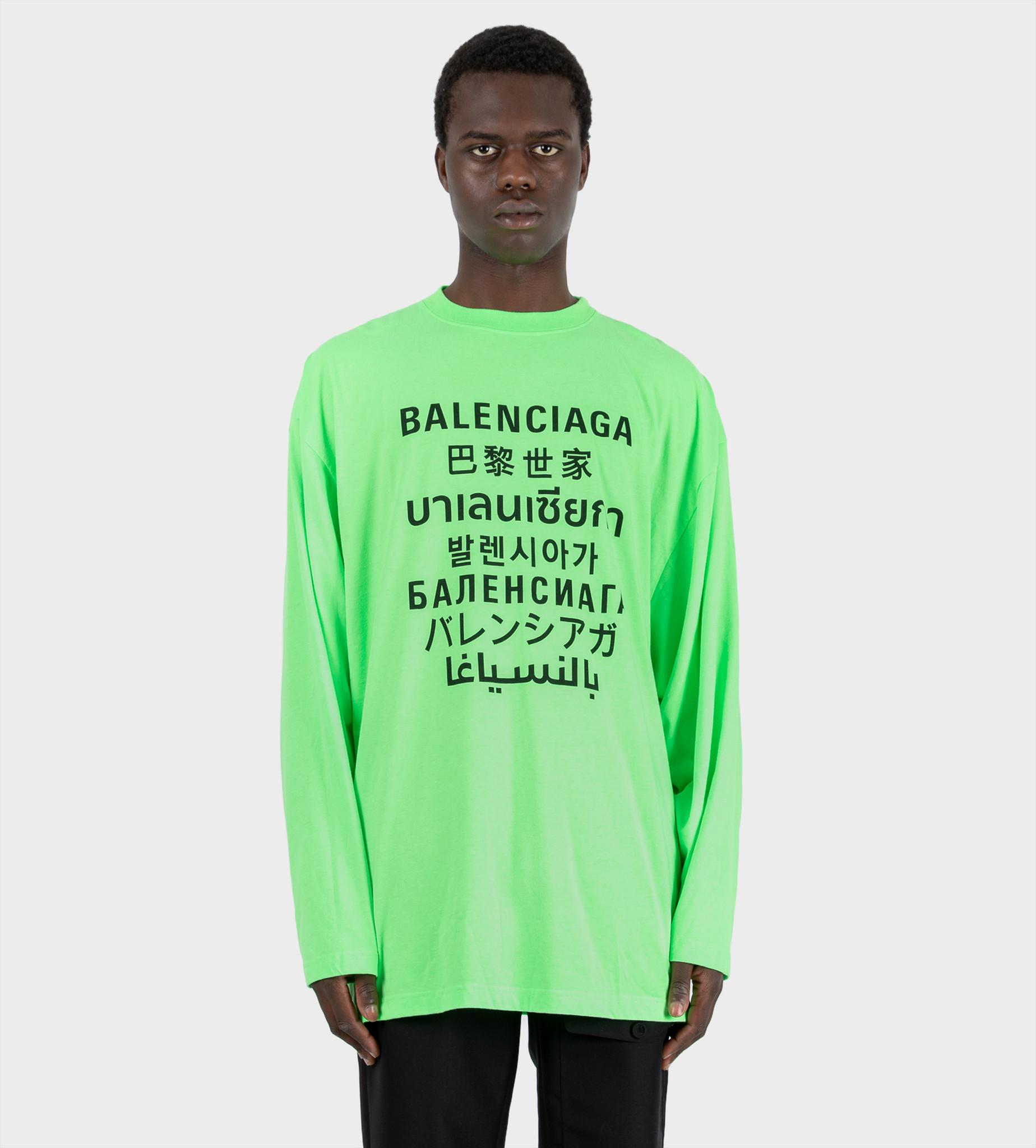BALENCIAGA Languages L/S T-Shirt Green