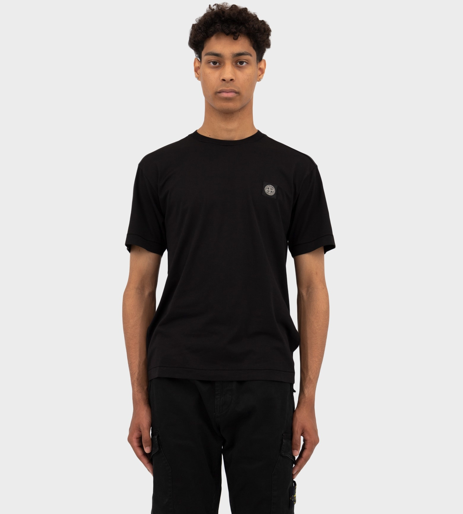 STONE ISLAND Compass Patch T-shirt Black