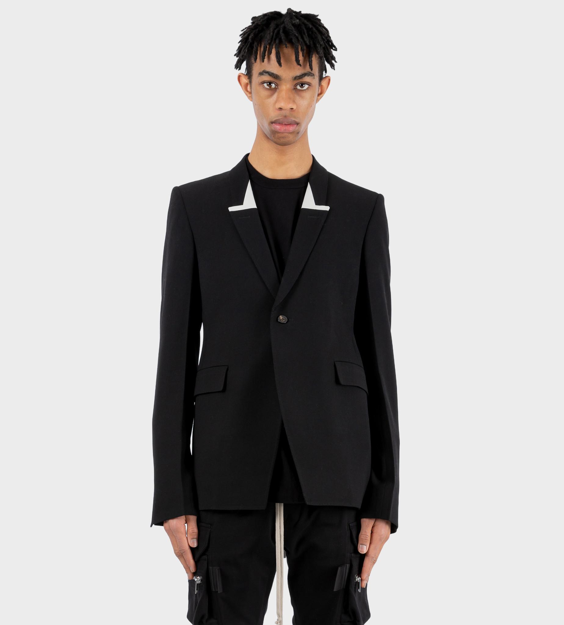 RICK OWENS Phlegethon Sharp Jacket Black