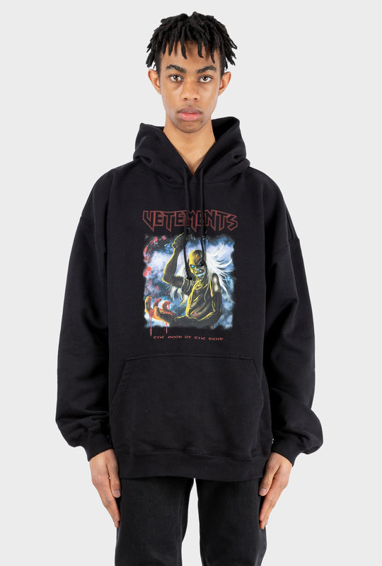 Oversized Bloody Logo Metal Hoodie Black