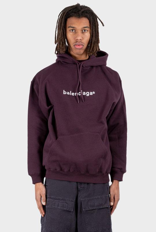 Copyright Medium Fit Hoodie Dark Purple
