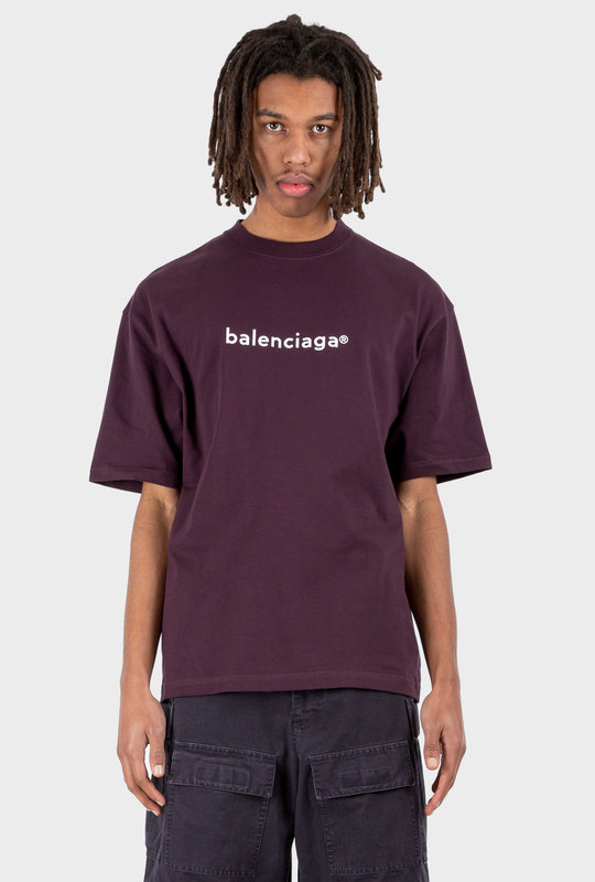 Copyright Large Fit T-shirt Dark Purple
