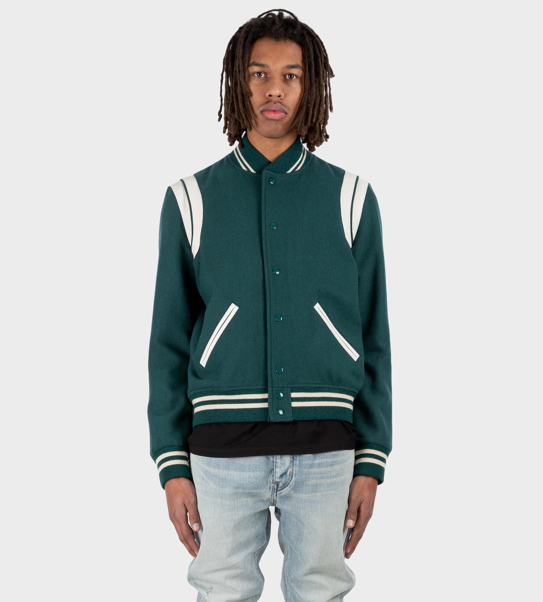 SAINT LAURENT Teddy Jacket Wool Multi