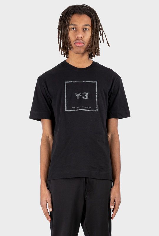 U Square Label Graphic SS T-Shirt Black