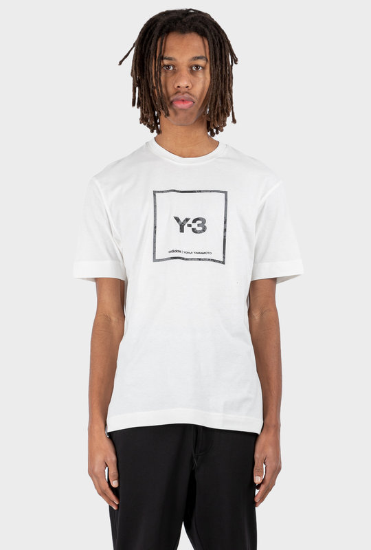 U Square Label Graphic SS T-Shirt White