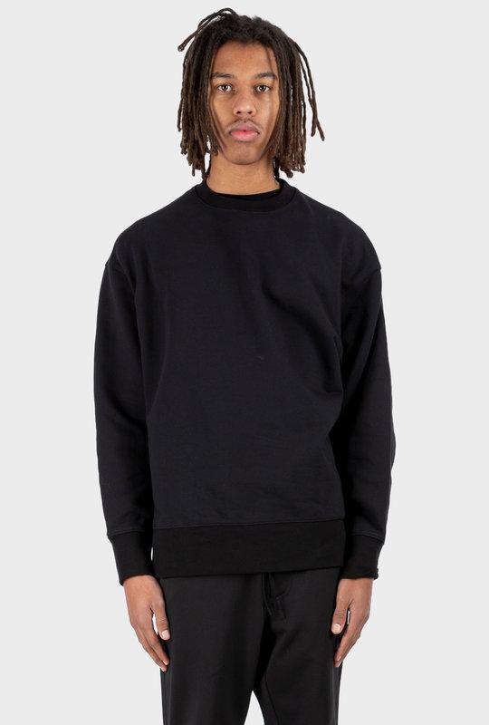 Stripes Terry Crew Sweatshirt Black