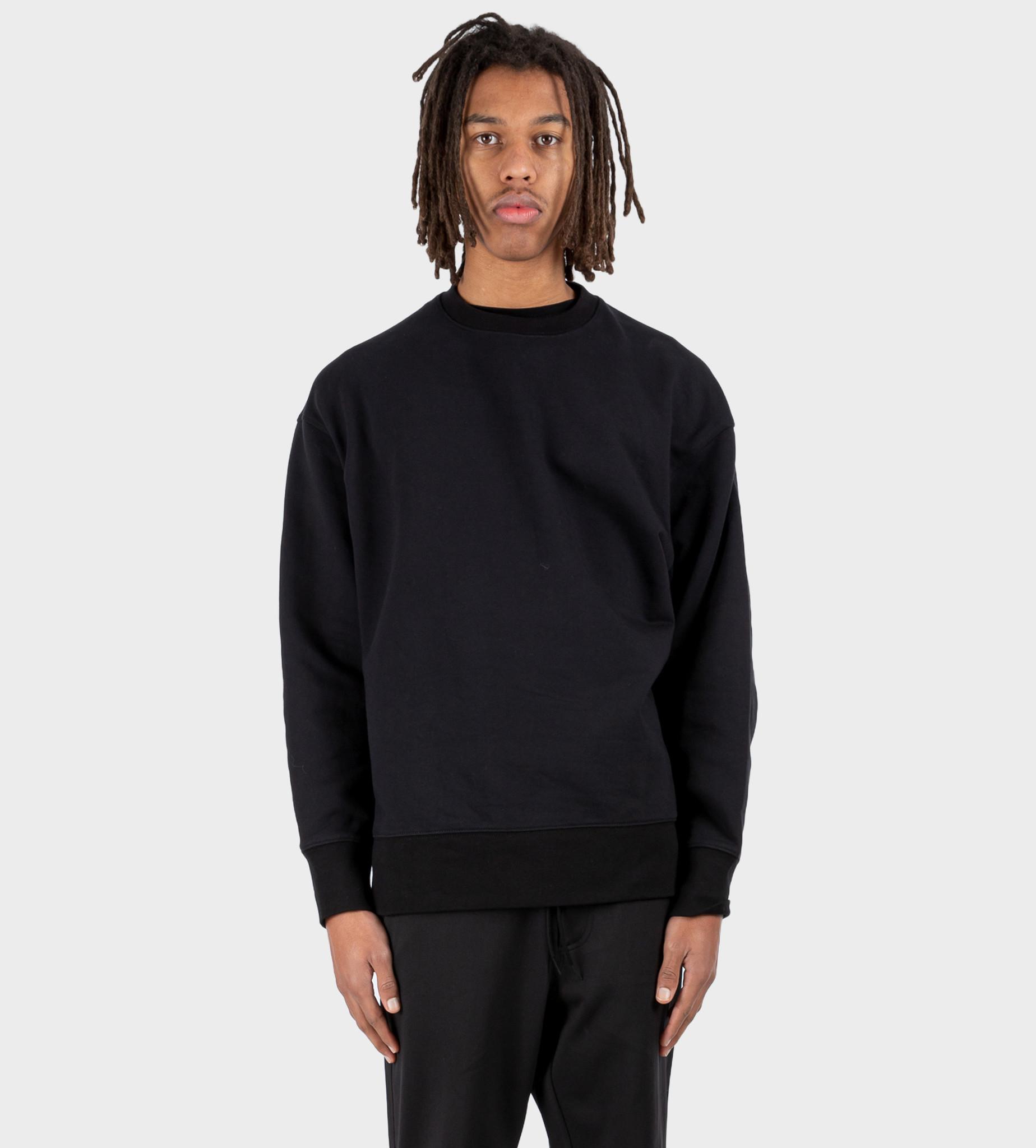 Y3 Stripes Terry Crew Sweatshirt Black