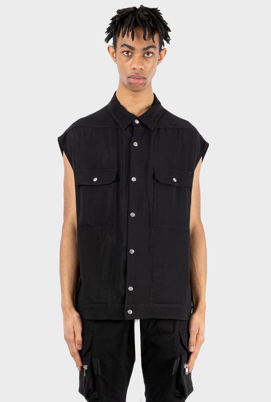 Sleeveless Snap-Button Shirt