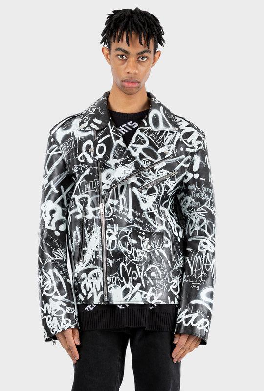 Graffiti Biker Jacket
