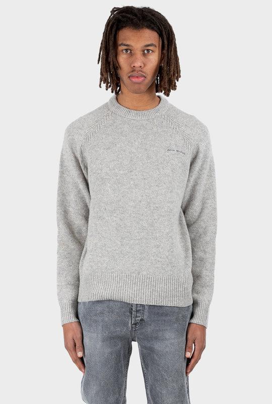 Crew Neck Sweater Light Grey Melange