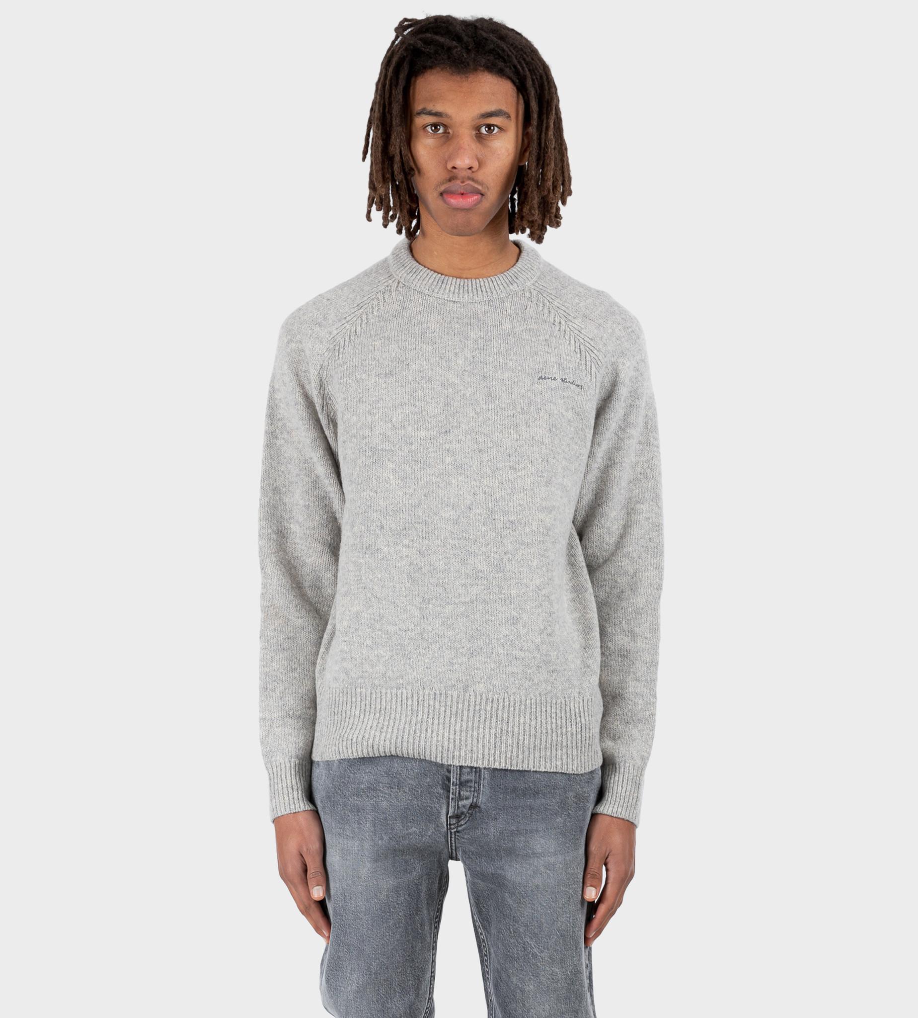 ACNE STUDIOS Crew Neck Sweater Light Grey Melange