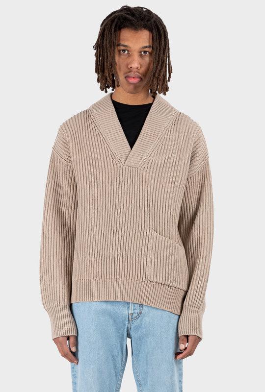 Mixed Rib Sweater Hazel Beige