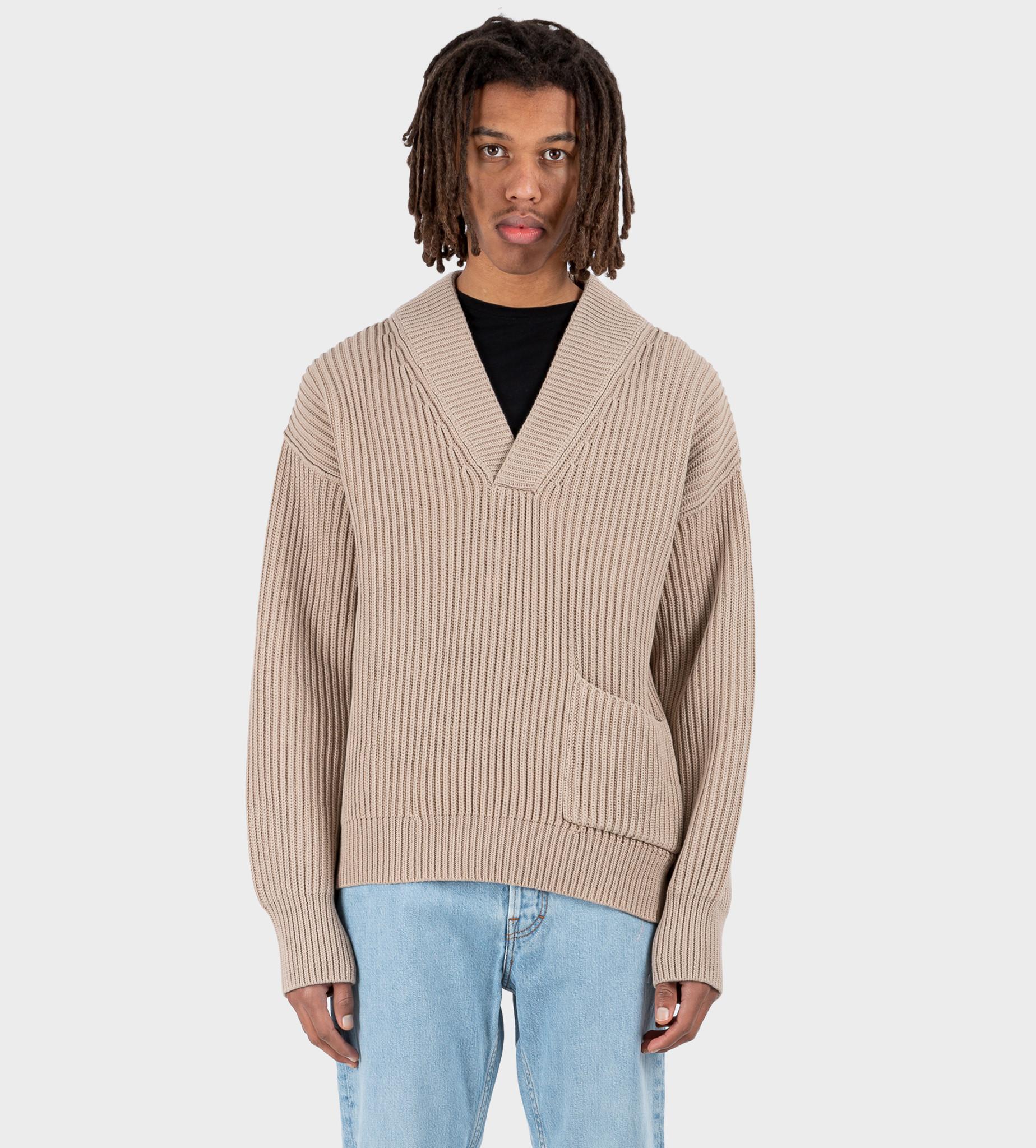 ACNE STUDIOS Mixed Rib Sweater Hazel Beige