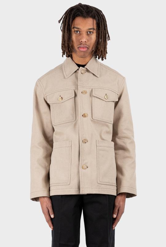 Cotton Shirt Jacket Hazel Beige