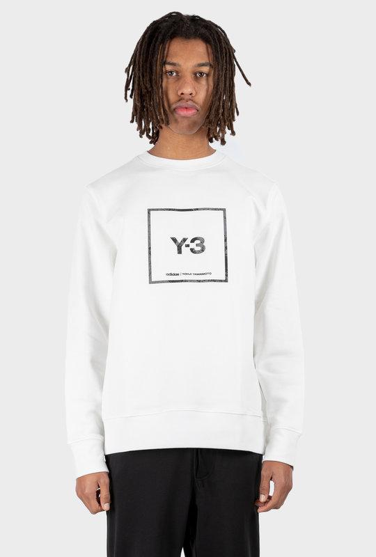 U Square Label Graphic Crewneck White