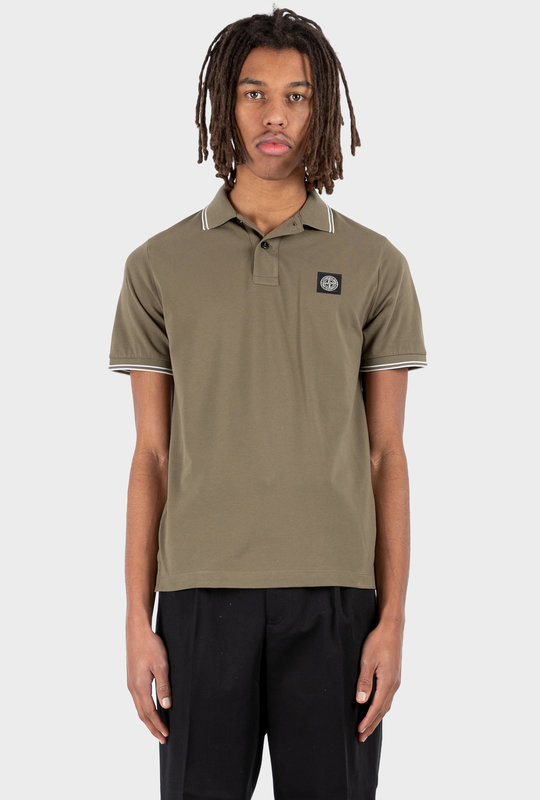 Logo Patch Short-Sleeved Polo Shirt