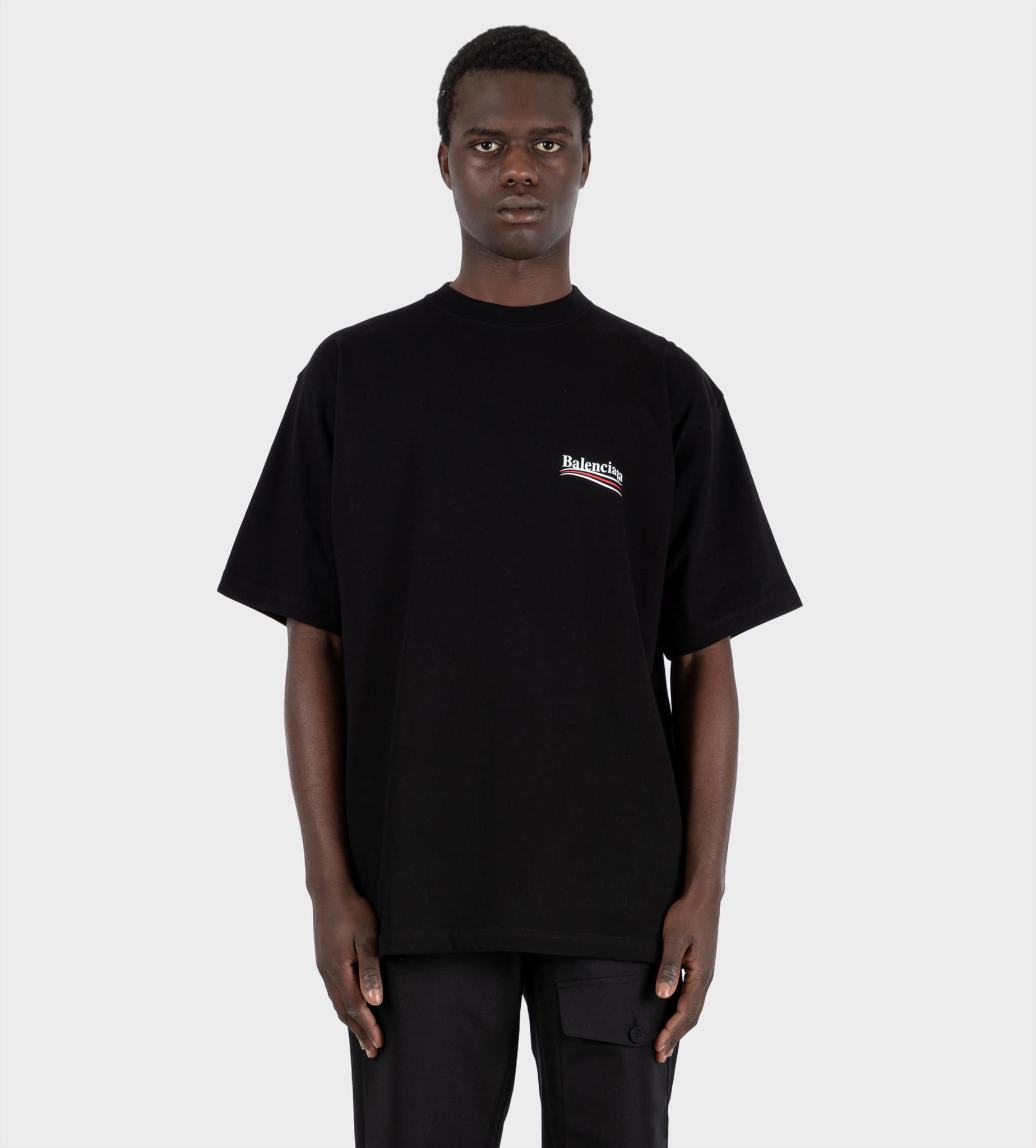 BALENCIAGA Political T-shirt Black