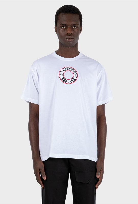 Logo Graphic Appliqué Cotton Oversized T-shirt White