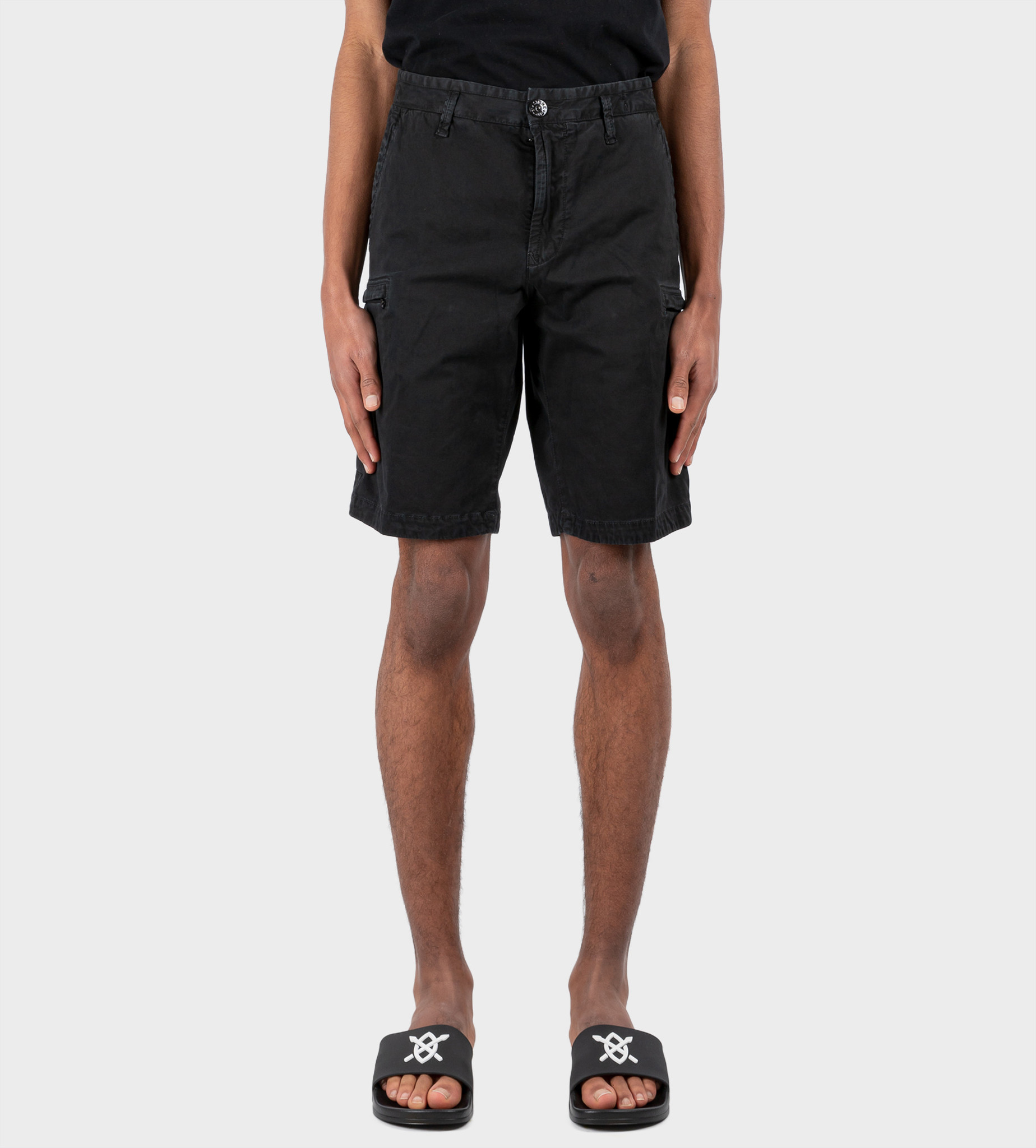 STONE ISLAND Cargo Bermuda Shorts Black