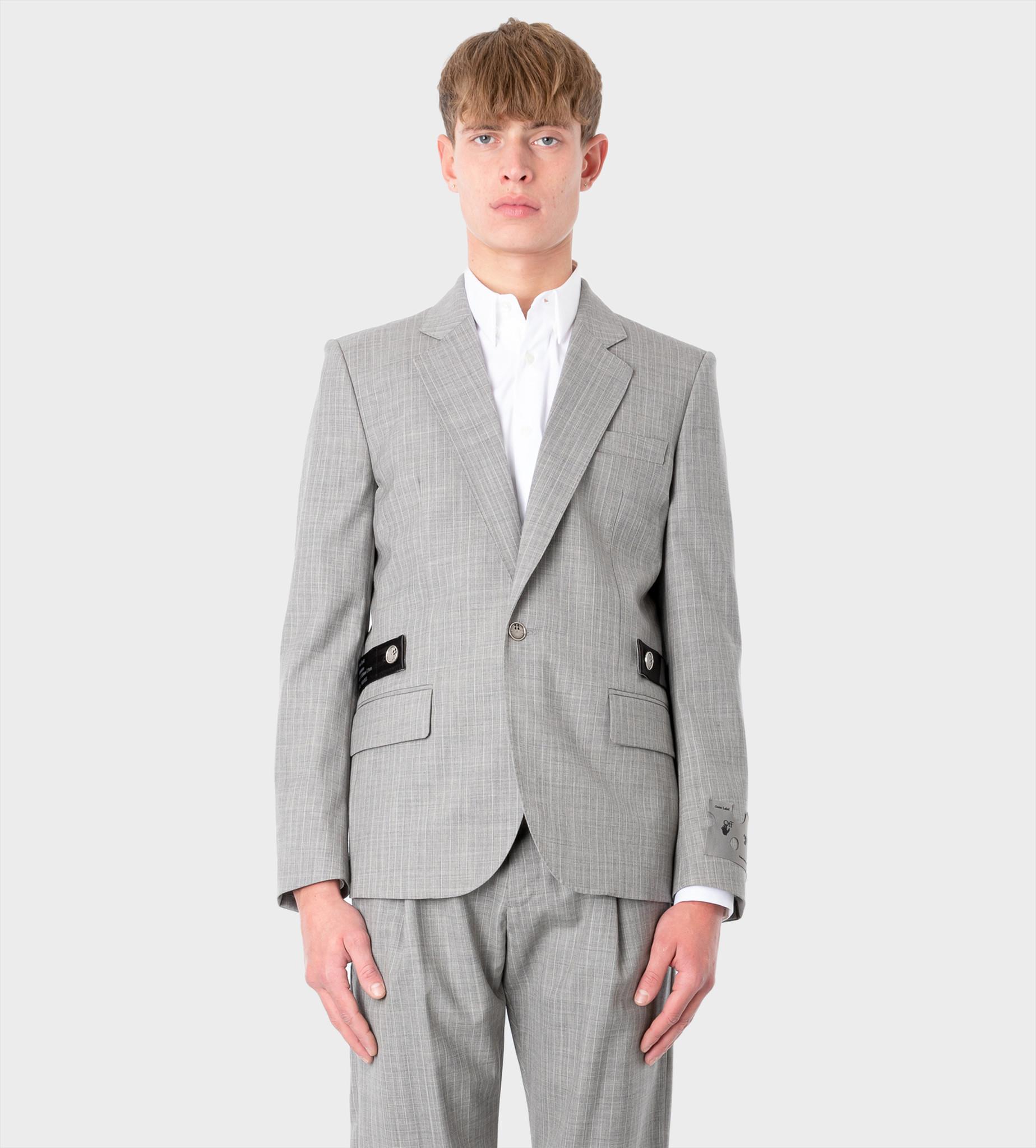 OFF-WHITE Striped Single-Breasted Blazer
