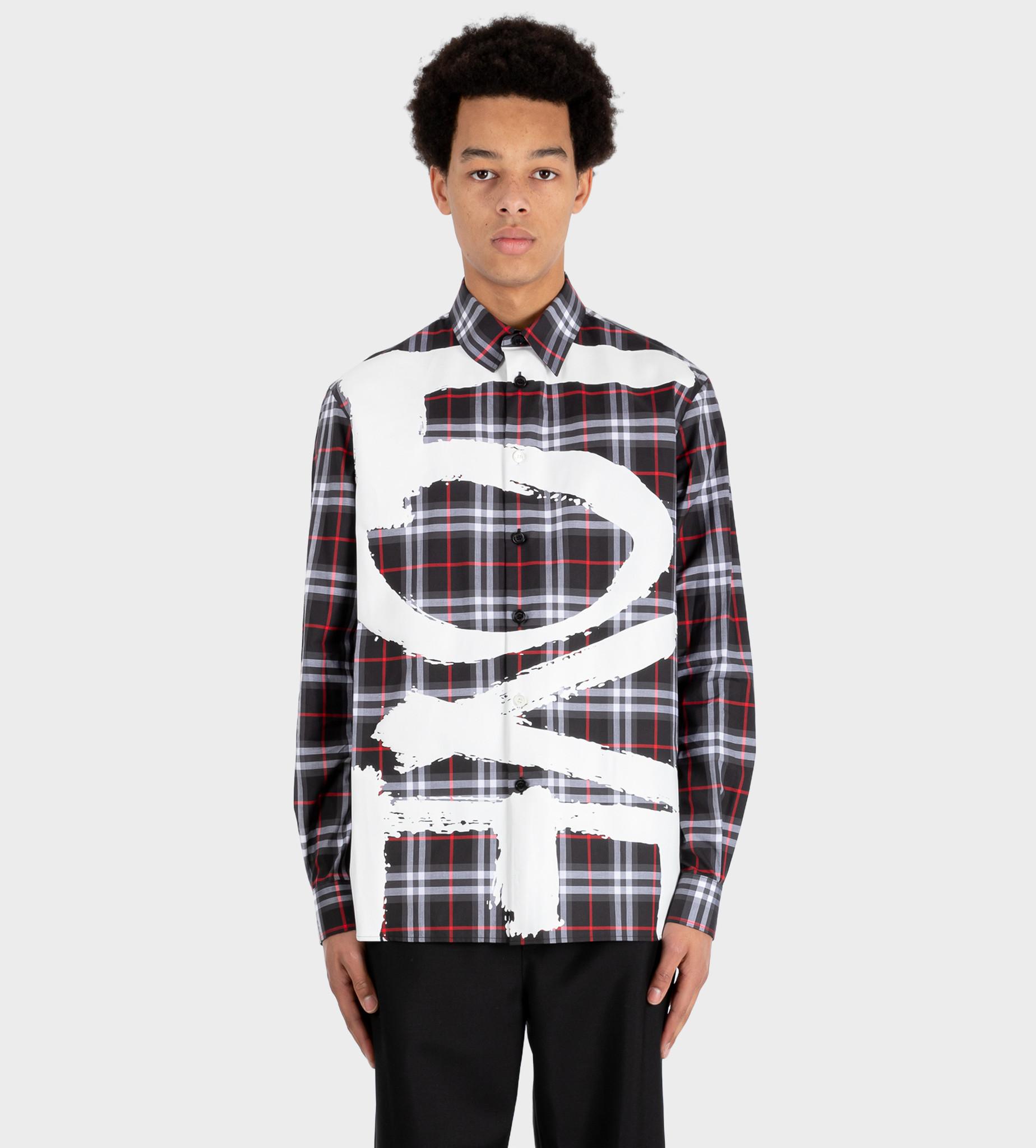 BURBERRY Love Print Vintage Check Cotton Shirt