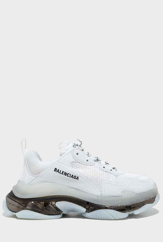 Triple S Clear Sole Sneakers White