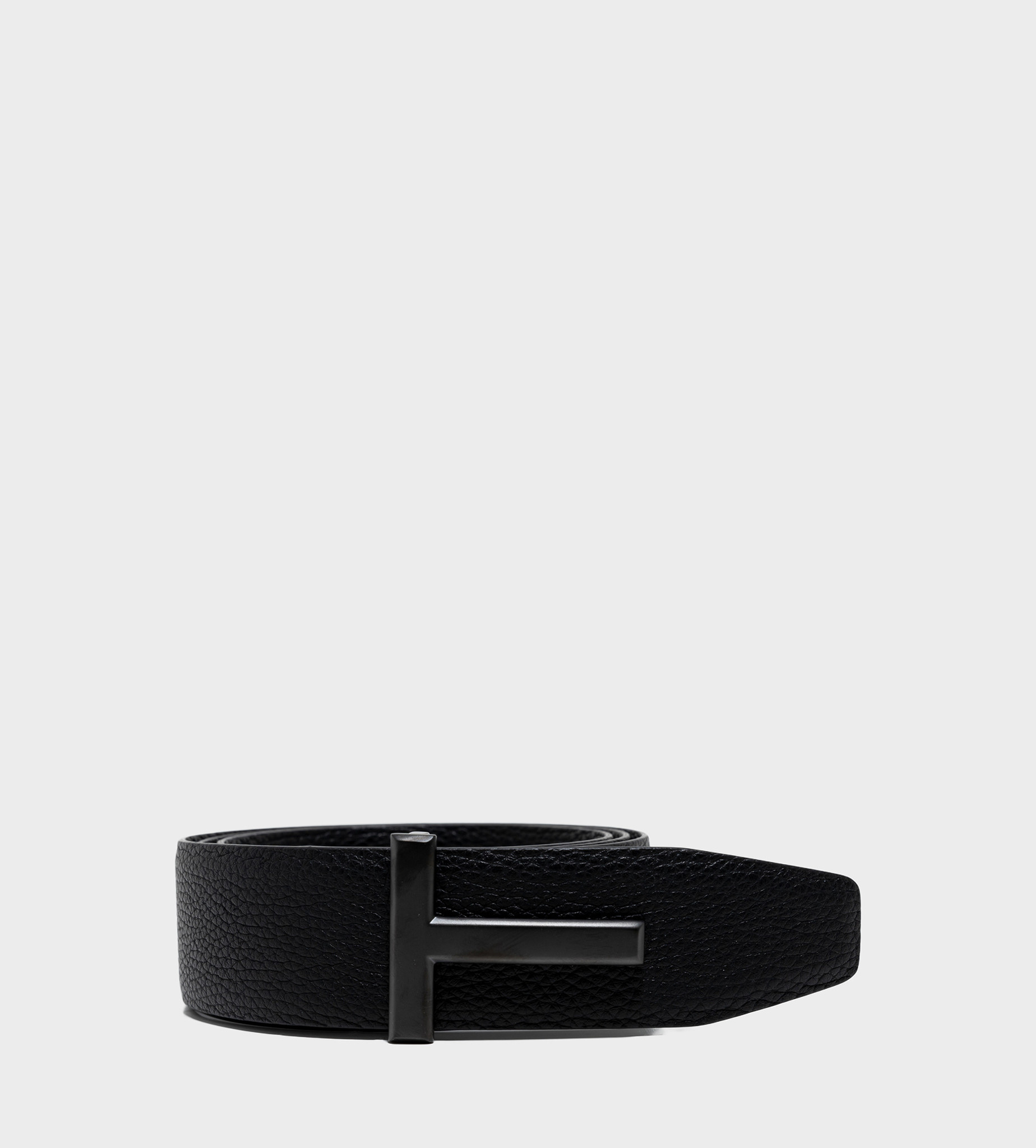 TOM FORD T Leather Belt Black