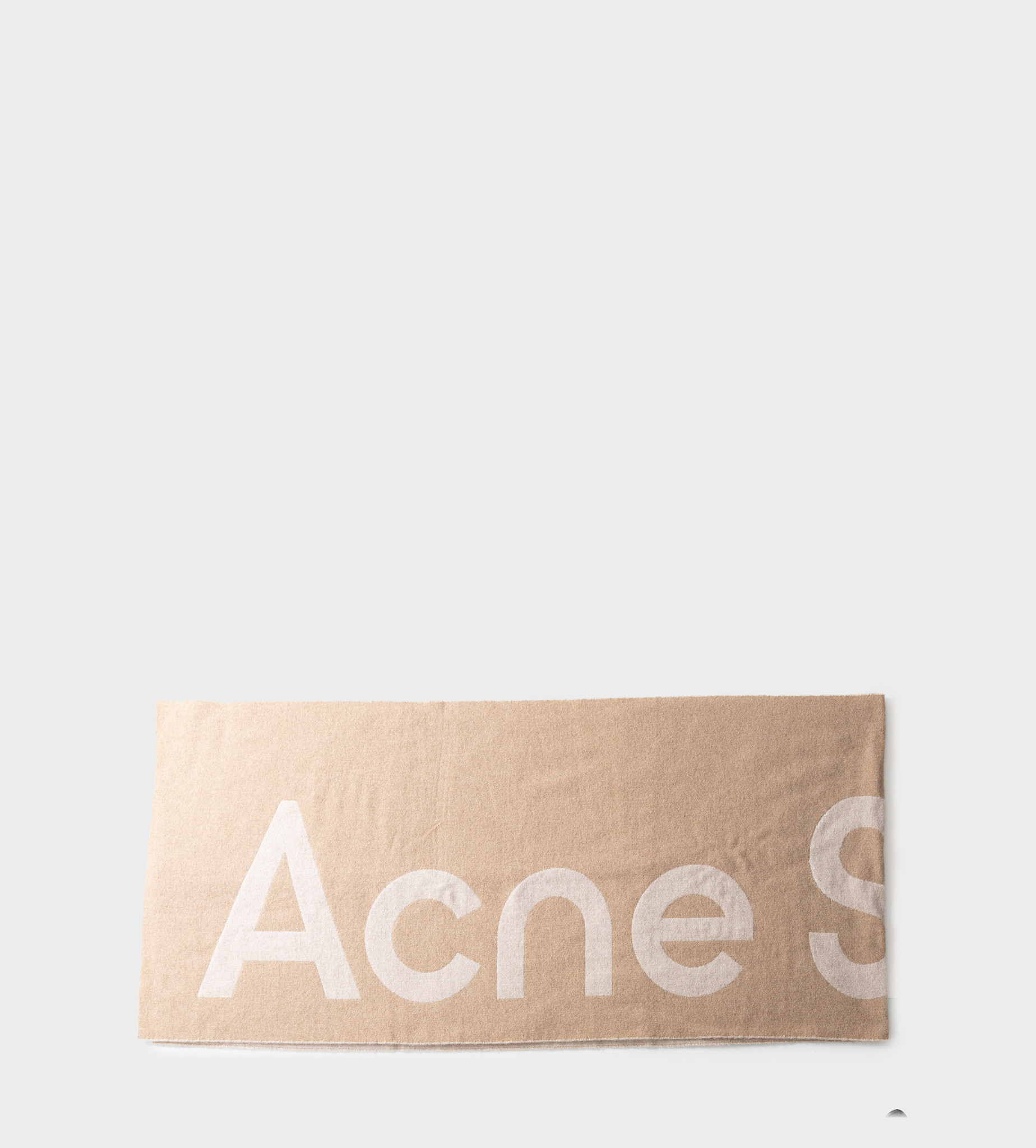 ACNE STUDIOS Jacquard Logo Scarf Beige