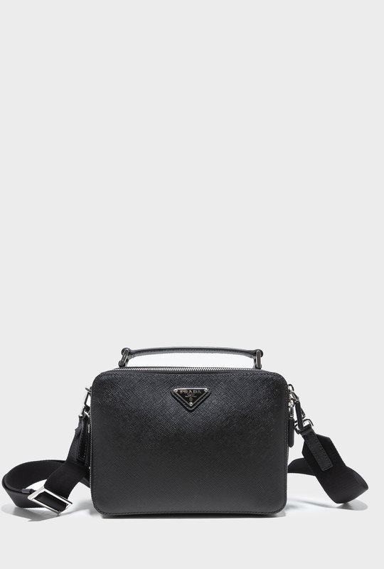Prada Brique Saffiano Leather Cross-Body Bag