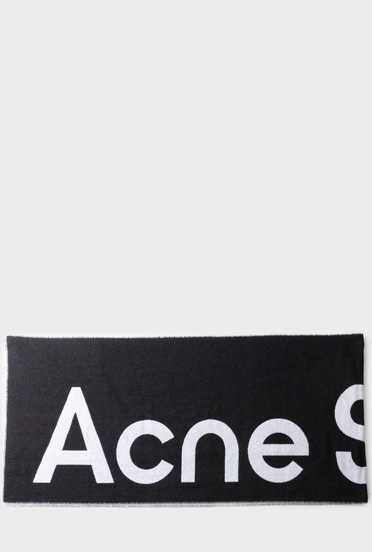 Jacquard Logo Scarf Black