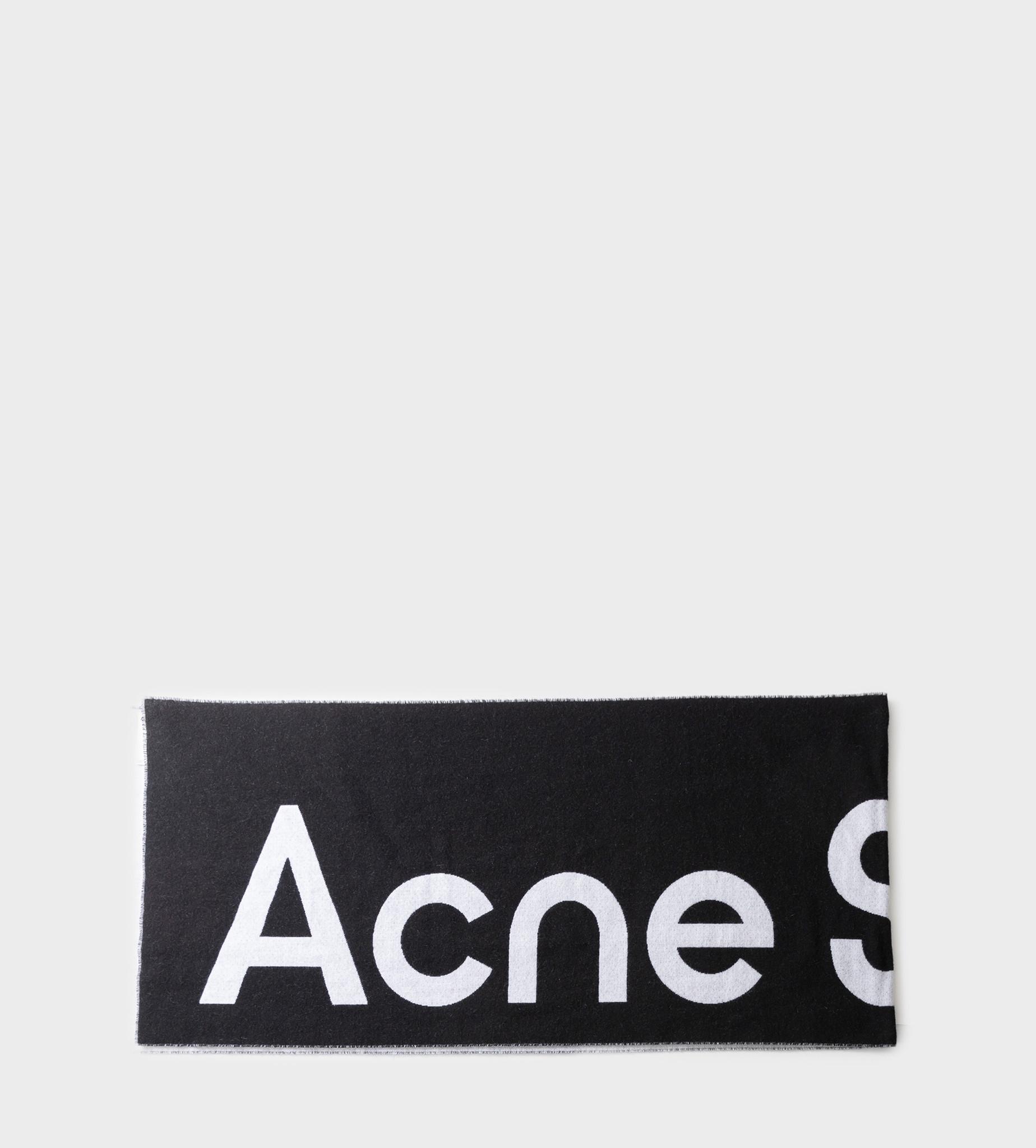 ACNE STUDIOS Jacquard Logo Scarf Black