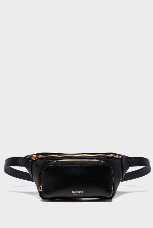 Leather Belt Bag Black